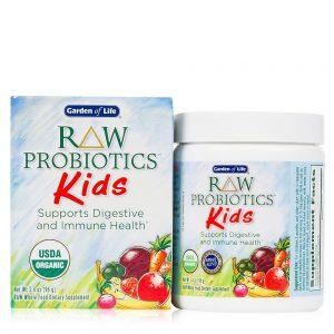 Probiotice RAW pentru copii – Pulbere digestivă cu aromă de banană (96g)
