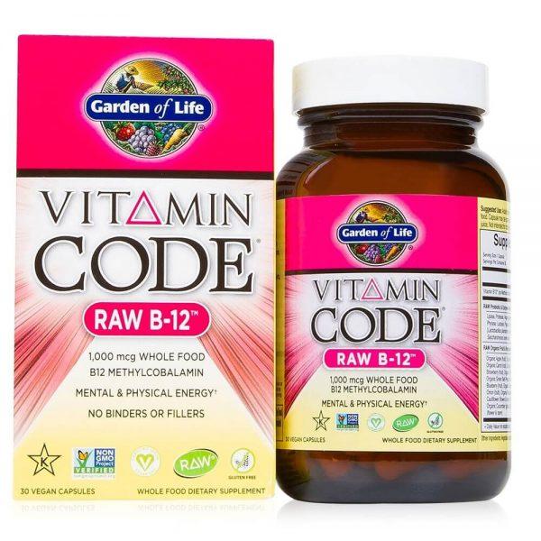 Vitamina B-12 RAW 1000 micrograme – 30 Capsule Vegane