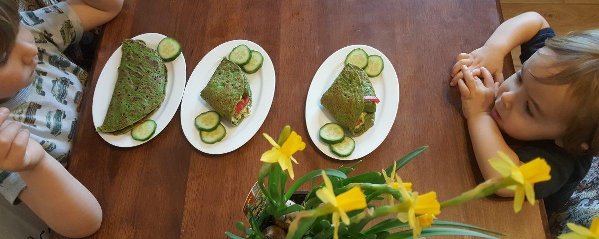 Clatite de quinoa cu spanac (de post, fara gluten)