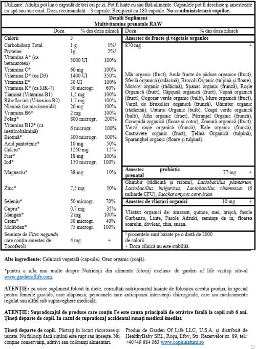 Multivitamine si probiotice pentru SARCINĂ/ALĂPTARE